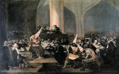 The Tribunal of the Inquisition as illustrated by Francisco de Goya