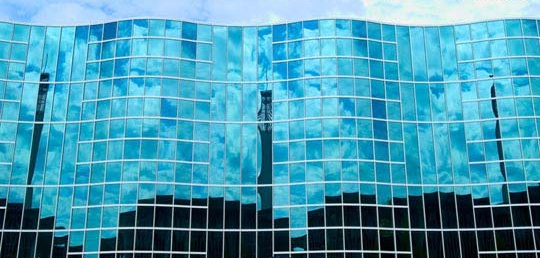 Wavy Glass Building at SUNY Albany